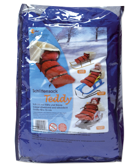 SNOW STROLLER SNUGGLY BLANKET - BLUE